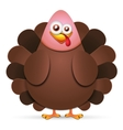 Turkey in cartoon style vector image vector image