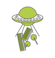 unidentified flying object abducting city vector image
