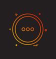 user interface button icon design vector image