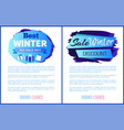 winter big sale 2017 landing page posters vector image vector image