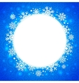 winter round frame with snowflakes and highlights vector image vector image