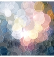 Abstract color shining circles background vector image