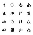 set of 16 editable community icons includes vector image