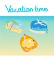 vacation icon set vector image