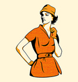 retro fashion girl vector image