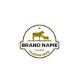 animal farm logo designs vintage logo vector image vector image
