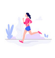 athletic young woman working out running jogging vector image vector image
