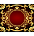 background frame with gold with vintage vector image vector image
