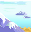 beautiful landscape with icebergs in sea vector image vector image
