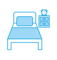 bed hotel with nightstand vector image vector image