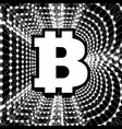 bitcoin - electronic form of money and innovative vector image vector image