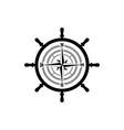 black vintage sailor badge white background logo vector image vector image