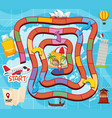 board game travel theme vector image