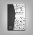 Brochures book or flyer with black white vector image vector image