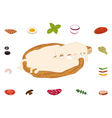 Build your sliced pizza vector image