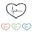 Cardiology grunge icon set vector image vector image