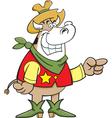 Cartoon Cowboy Cow vector image vector image