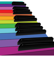 colorful piano keys vector image
