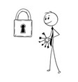 conceptual cartoon of businessman looking for vector image