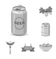 design of pub and bar sign collection of vector image