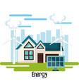 eco friendly house design vector image