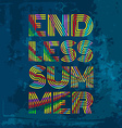 Endless Summer Artwork for wear in custom colors vector image