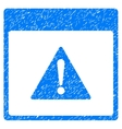 Error Calendar Page Grainy Texture Icon vector image vector image
