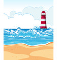 flat design of summer beach vector image