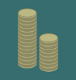 flat icon on stylish background stacks of coins vector image