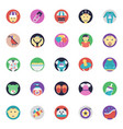 flat icons pack of baby and kids vector image vector image