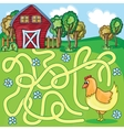 Funny Maze Game - Cartoon Chicken vector image vector image