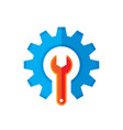 gear and wrench logo template concept vector image vector image