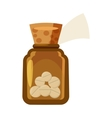 Glass bottle of tablets icon cartoon style vector image vector image