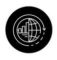 Global integration black icon sign on