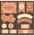 Grapevine printable set Candy bar design vector image