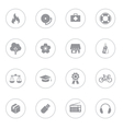 gray web icon set 6 with circle frame vector image vector image
