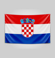 hanging flag of croatia republic of croatia vector image vector image