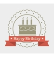 Happy birthday cake dessert vector image vector image