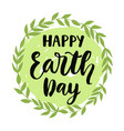 happy earth day poster banner greeting card vector image vector image