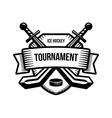 Ice hockey sport tournament logo vector image vector image