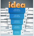 idea 3d business infographics vector image vector image