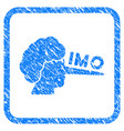 imo lier framed grunge icon vector image vector image