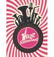 jazz restaurant vector image vector image