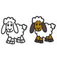 lamb icon vector image vector image
