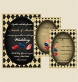 Mad tea party wedding invitation set vector image vector image
