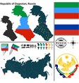 Map of Republic of Dagestan vector image vector image