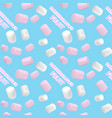 marshmallow white and pink pattern vector image vector image