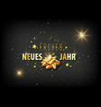 new year greeting card with golden decoration vector image vector image