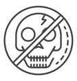 no skull sign icon outline style vector image vector image