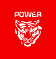 power tiger head modern ink brush drawing vector image vector image